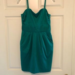 Teal Strapless Dress 👗